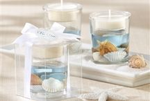 Beach - Themed / Bring the beach to your wedding reception with starfish, seashell, and flip flop design wedding favors.