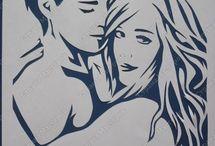 human stencils