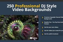 250 Professional DJ Style Video Backgrounds / Those were created specifically as background videos for Animated and Sketch Videos.