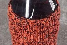 handmade knit koozies / My Handmade knit Koozies / by B.L. Embrey