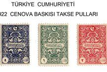 1922 CENOVA BASKISI TAKSE PULLAR / TÜRK VE OSMANLI POSTA PULLARI