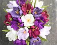 Kwiaty z bibuły, krepiny