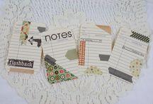 Project Life handmade Journalingcards