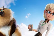 Storks (2016) / Warner Brothers Storks (2016) movie wallpapers hd with Junior, Tulip and all other characters