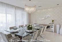 Qual lustre ou pendente escolher para sala de jantar? / Veja + Inspirações e Dicas de decoração no blog!  www.construindominhacasaclean.com