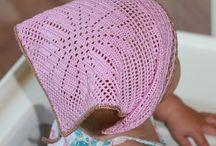вязаныедетские головные уборы