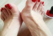 sexy feet and red toes