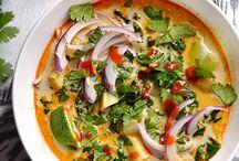 Thai curry soep
