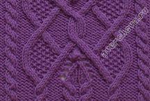 Схемы и узоры для вязания спицами
