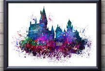 ilustrações do Harry Potter