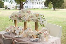 Romance By The Chesapeake Bay / When asked to create a classic romantic wedding design at the charming Kirkland Manor we were absolutely thrilled.  Our design was set on the edge of the property nestled beneath a dramatic tree and a well grown garden gate.  This backdrop with the glamour of the Manor Home that was used in the filming of Wedding Crashers was pure perfection.