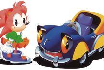 Sonic Drift 2 / Official artwork of characters and karts from Sonic Drift 2 for Sega Game Gear  More info on this game at http://sonicscene.net/sonic-drift-2