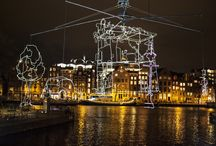 Light Festival Amsterdam / Light Festival, Art, Lights, Amsterdam, Design, The Dylan, Canals, Boats