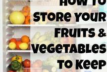 Fruit + veggies storage