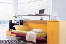 Einzelbett mit Arbeitsplatz kombiniert - Cabrio In von Clei