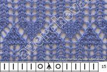 vzory,hačkovani ,pleteni