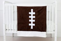 """Sporty Baby / Time to experience """"the softer side of sports"""" ™.  Cozy Wozy has a great selection of luxurious, soft and cozy baby blankets for the youngest sports fan!"""