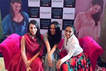 Pink Couch at Lakme Fashion Week SS'15 - Day 3 / The fun and glamour quotient went up as the day witnessed Anindita Nayar, Kim Jagtiani, Ambika Anand sharing the Pink couch with our gorgeous host Shveta Salve #amanteLFW #PinkCouch #LFW #LakmeFashionWeek