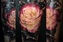 yellow en pink rose