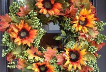 Great Autumn Wreaths / These are just some of our custom made wreaths for Fall.  These are an exceptional value and will last for years.