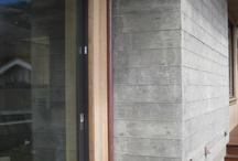 Rough Boxed Concrete Wall