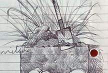 my work Kept only 2 things from my diary #biro #drawing #doodle