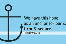 """Hope as an Anchor for the Soul / """"Our hearts are restless until they rest in you!"""" - St. Augustine / by Meghan Vanderlee"""