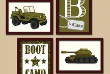 Brayden's military room