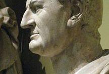 Rómaiak szobrai