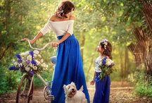 мама и дочка луки