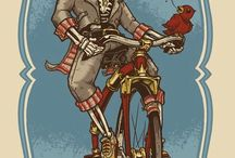 Cycling funny drawings
