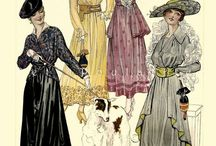 1910-1919 fashion / Fashion from 1910-19. Mostly womens.