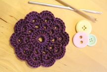 Coasters and place mats / Crocheted and sewn coasters