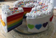 Rainbow Cake Felt