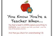 teacher stuff :)  / by Brittany Hauppa
