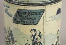Antique decorative tin