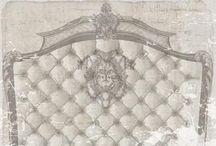 Tête de lit / De superbe tête de lit en toile