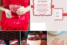 Inspiracie - Cervena letna svadba / Inspirations -  Red Summer Wedding