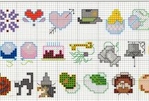 mini kanavice sablonlari /mini cross stitch crafts