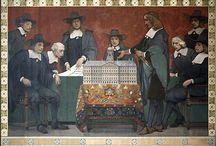 Gouden Eeuw - schilders / reconstructies door negentiende-eeuwse kunstenaars van de levens van de Nederlandse schilders van de Gouden Eeuw