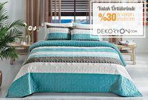 Yatak Örtüleri / Onlarca marka ve yüzlerce çeşit yatak örtüsü Dekoryon.com 'da