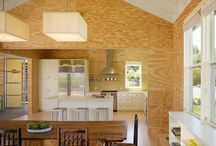 Plywood and plaster
