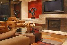 Scottsdale Waterfront / High End Interior Design, Interior Design, Luxury Living, Loft, Modern, Contemporary, Loft Living, Furniture, Furnishings, Construction Remodel, Master Bathroom Remodel, Sliding Pocket Door, Family Room