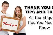 Thank You Card Tips and Tricks – All the Etiquette Tips You Need to Know / Thank you notes do not have to be complicated. Just by following these etiquette rules you can please your guests and get your wedding off to the right start.  http://www.kimberleyandkev.com/thank-card-tips-tricks-etiquette-tips-need-know/