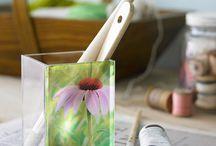 Art Glass-Wood-Stone