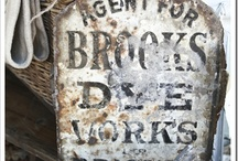 An old sign or two