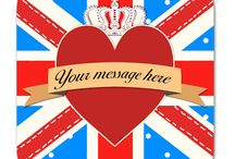 Love in London / A fun spin on a Valentine's Day party - make it a UK/London theme! Union Jack makes a bold visual tie in to all your decorations.