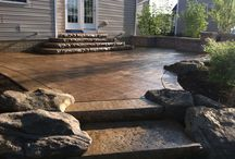 Stamped Concrete with Style / Let us customize even your patio or deck areas along with your custom modular home.