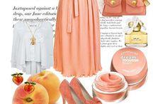 Just Peachy / peach, coral, apricot