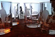 Handmate: individuelle Wiskygläser / Individuell gesandstrahlte Motive auf Whiskygläsern
